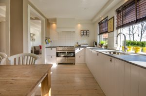 image of a kitchen with new roller blinds